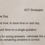 ACT Strategies Sheet