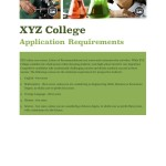 XYZ College Application Requirements Brochure