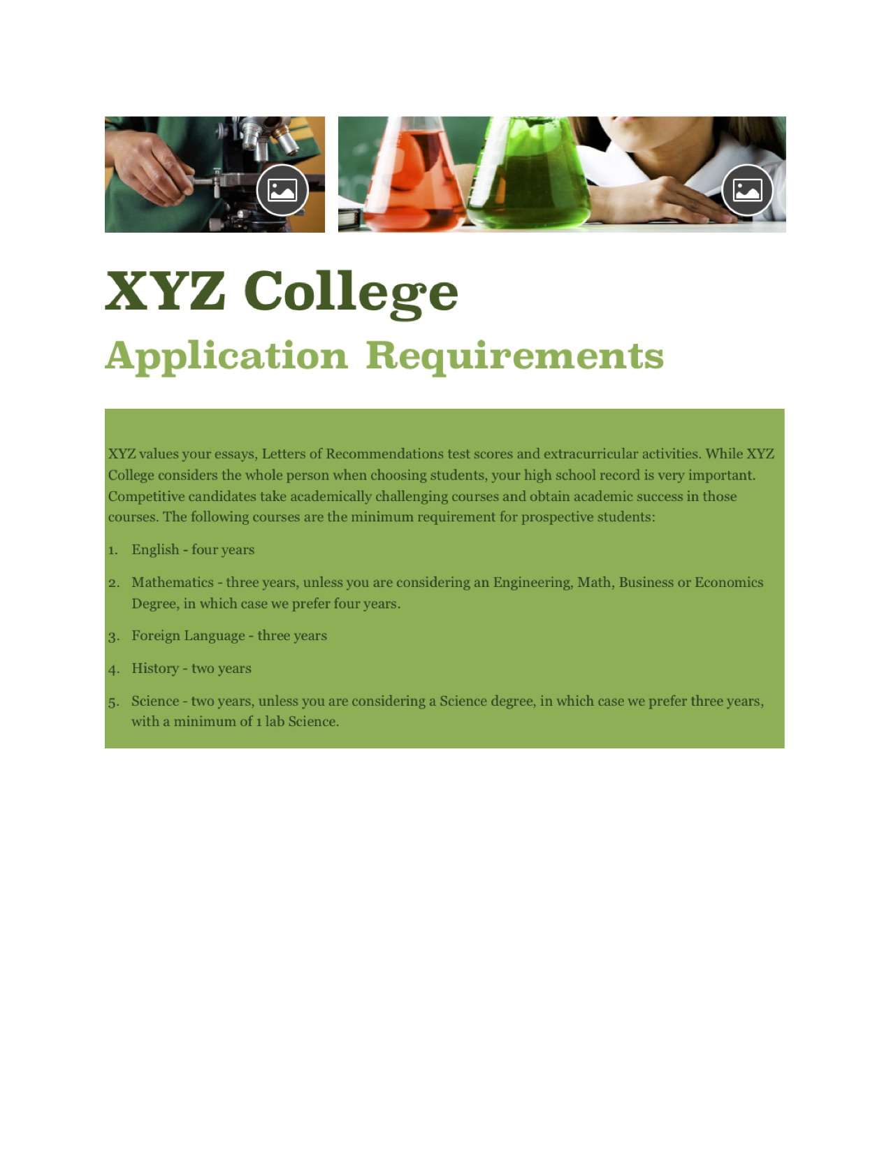 Applying to colleges requirements?